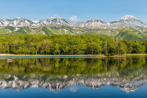 里山「湖 Yonko, 北海道, 日本」:スマホ壁紙(19)
