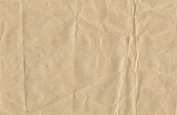 Crinkled brown paper:スマホ壁紙(壁紙.com)