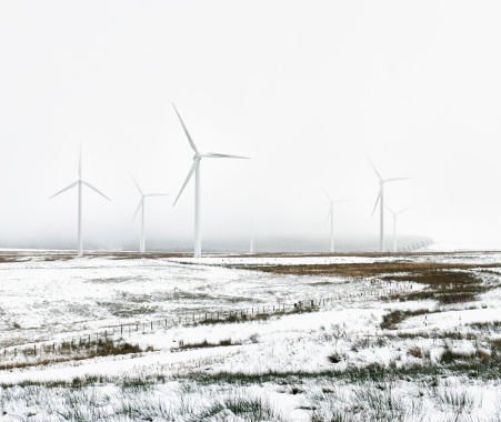 Wind Turbine「Wind Farm in Winter」:スマホ壁紙(15)