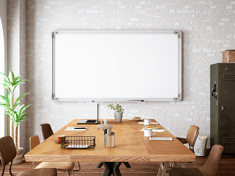 Banner - Sign「Office with White Board」:スマホ壁紙(4)
