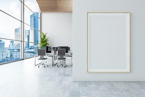 Office Chair「Office with Empty Billboard」:スマホ壁紙(7)