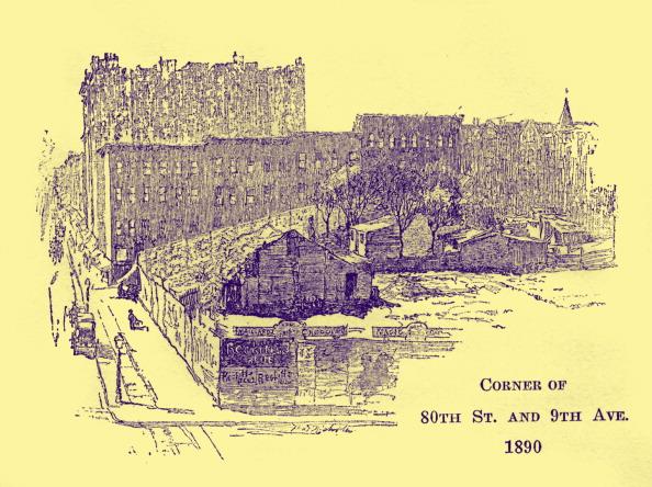 City Life「Corner of 80th Street and 9th Avenue, New York, 1890」:写真・画像(0)[壁紙.com]