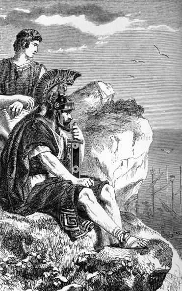 18-19 Years「George Gordon Byron / Lord Byron - illustration of a scene from the poem 'Don Juan' by the English poet. 'A king sate on the rocky brow which looks o'er sea born Salamis.'」:写真・画像(3)[壁紙.com]