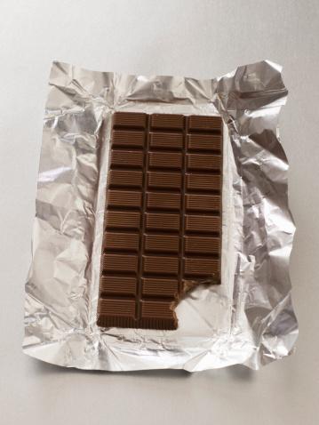 Milk Chocolate「Partially eaten chocolate bar and wrapper」:スマホ壁紙(16)