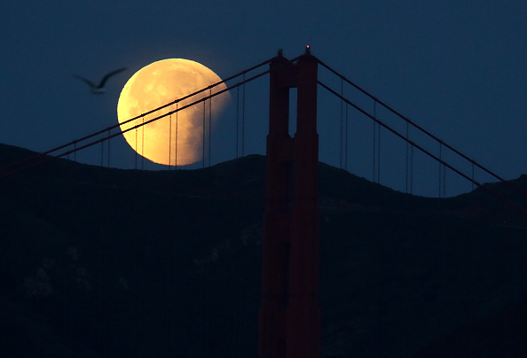 青「Rare 'Super Blue Blood Moon' Makes Appearance On U.S. West Coast」:写真・画像(11)[壁紙.com]