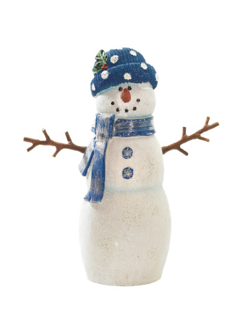 雪だるま「Snowman on white background」:スマホ壁紙(10)