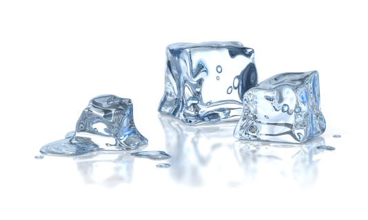 Frozen「Three ice cubes melting against a white background」:スマホ壁紙(17)