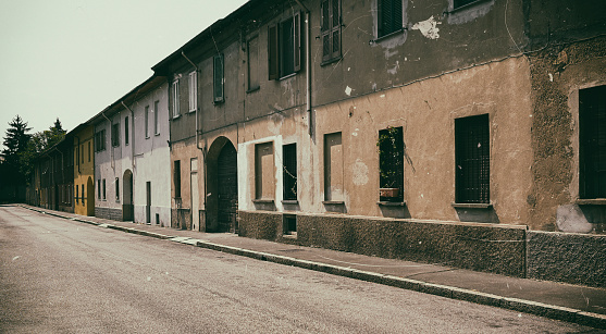 1900「Old Street in Legnano. COlor Image」:スマホ壁紙(17)