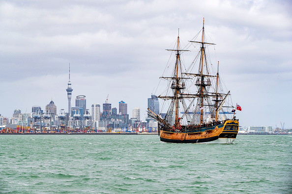 Auckland「Historic Ships Sail Into Auckland As Tuia 250 Flotilla Arrives」:写真・画像(3)[壁紙.com]