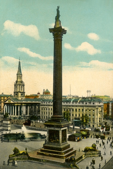 Hand Colored「Nelsons Column And Trafalgar Square」:写真・画像(17)[壁紙.com]