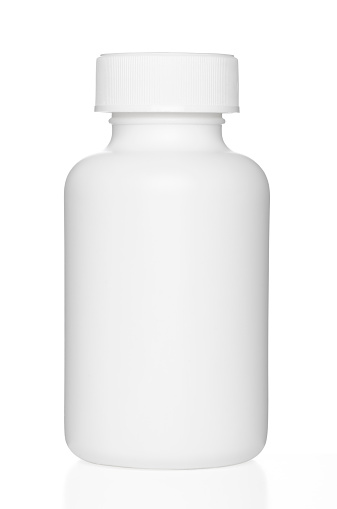 Pill Bottle「Blank chunky medicine bottle with clipping path」:スマホ壁紙(15)