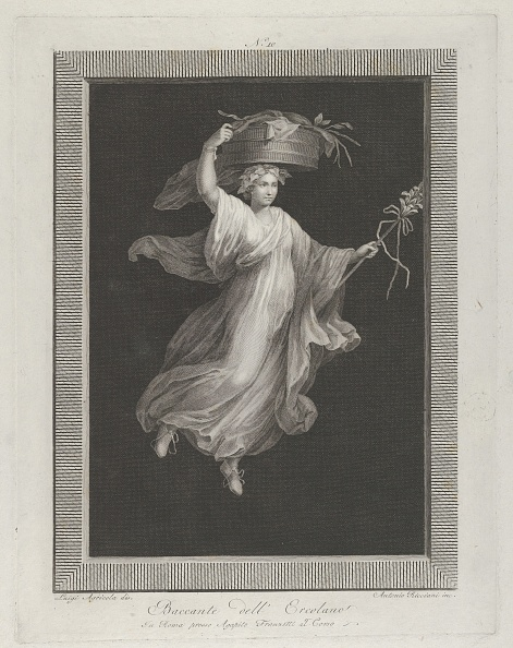 Rectangle「A Bacchante Carrying A Large Basket On Her Head And Holding A Staff In Her Le」:写真・画像(18)[壁紙.com]