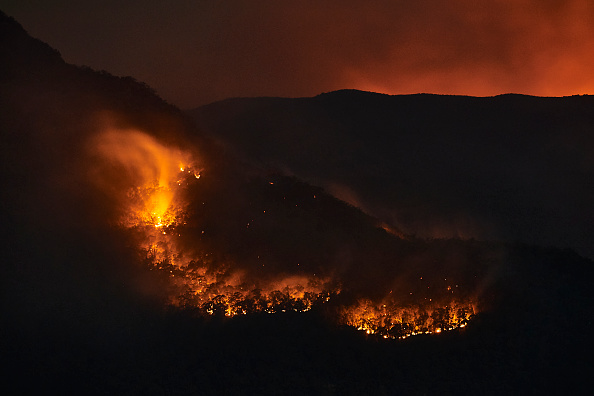 Flame「World Heritage Area Under Threat As Bushfires Burn Across Blue Mountains」:写真・画像(2)[壁紙.com]