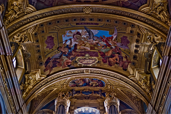Ceiling「Jesuit Church Interior」:写真・画像(4)[壁紙.com]