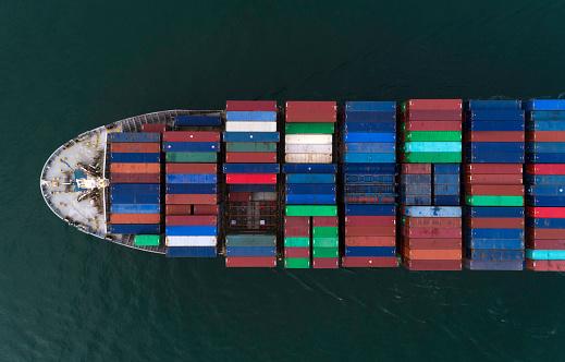 Ship「Cargo ship from above」:スマホ壁紙(15)