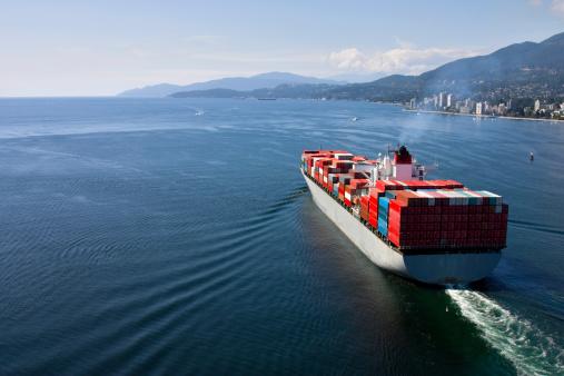 Passenger Cabin「Cargo Ship leaving port」:スマホ壁紙(4)