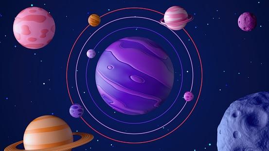 Moon「3D Outer Space」:スマホ壁紙(10)