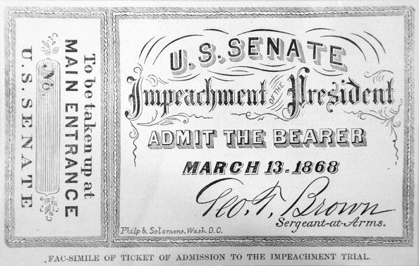 President「Impeachment ticket from President Andrew Johnson」:写真・画像(18)[壁紙.com]