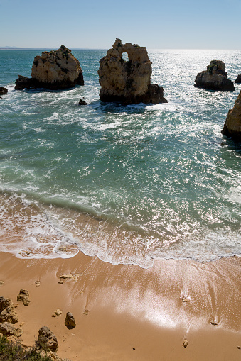 波「Praia dos Arrifes in the Algarve」:スマホ壁紙(5)