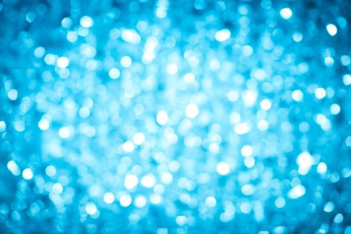 Glitter「Blurred blue sparkles」:スマホ壁紙(1)