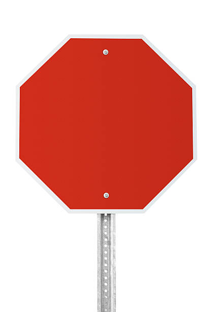 Blank Stop Sign with clipping path:スマホ壁紙(壁紙.com)