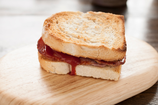 Toasted Food「Toasted Bacon Sandwich with Tomato Ketchup」:スマホ壁紙(15)