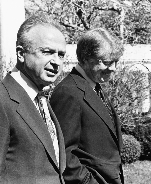 Consolidated News Pictures「Yitzhak Rabin And Jimmy Carter」:写真・画像(8)[壁紙.com]