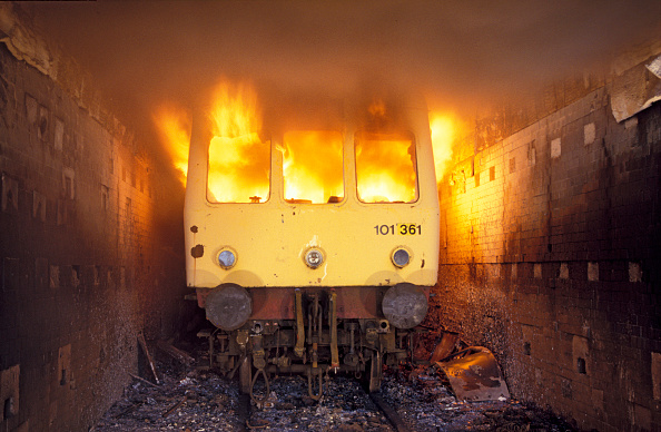 Finance and Economy「Scrapped DMU in the incinerator at Mayer Newman's breakers yard near Ipswich. The process burns away all flamable material prior to cutting up. C1993」:写真・画像(14)[壁紙.com]