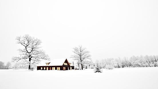 雪「自宅のクリスマス」:スマホ壁紙(14)
