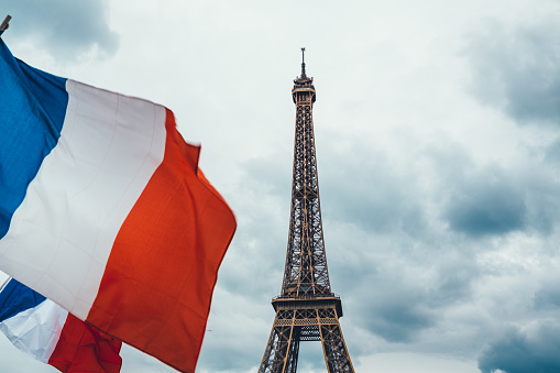 French Flag「Eiffel Tower With French Flags」:スマホ壁紙(9)