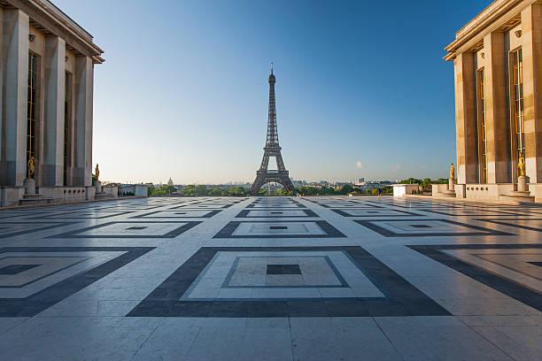Eiffel Tower from Trocadero in Paris, France:スマホ壁紙(壁紙.com)