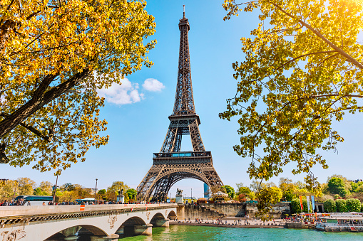 France「Eiffel Tower in Paris, France」:スマホ壁紙(14)