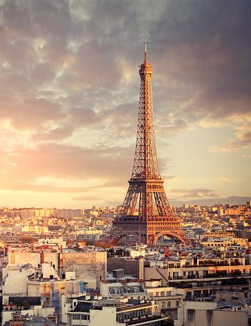 France「Eiffel tower in Paris」:スマホ壁紙(13)