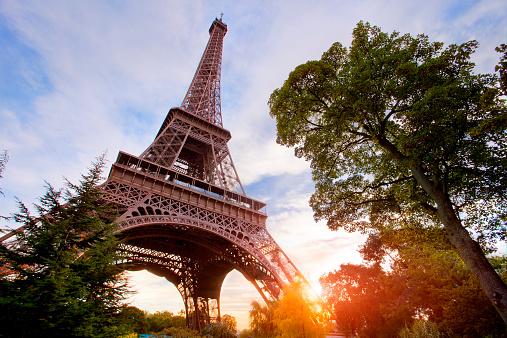 French Culture「Eiffel Tower at sunset, Paris」:スマホ壁紙(8)