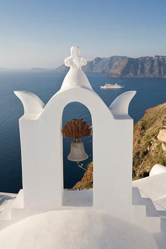 Aegean Sea「View of Belltower in Oia」:スマホ壁紙(6)