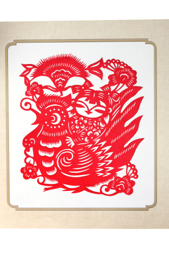 Paper Craft「Paper-cutting of chicken and child」:スマホ壁紙(8)