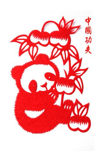 パンダ「Paper-cutting of panda」:スマホ壁紙(15)