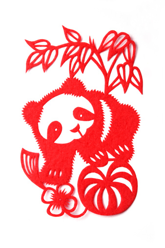 パンダ「Paper-cutting of panda」:スマホ壁紙(1)