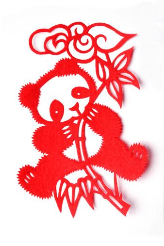 パンダ「Paper-cutting of panda」:スマホ壁紙(13)