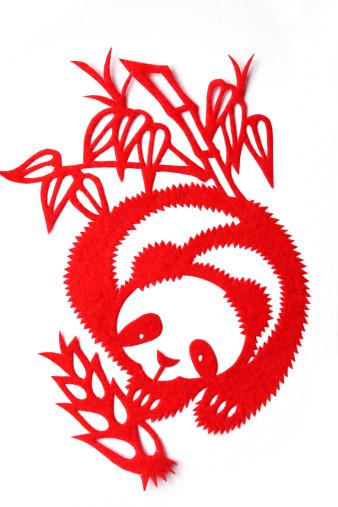 パンダ「Paper-cutting of panda」:スマホ壁紙(11)