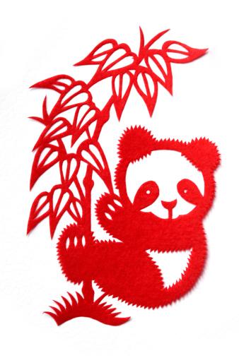 パンダ「Paper-cutting of panda」:スマホ壁紙(14)