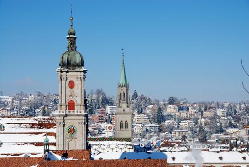 Abbey - Monastery「View over St.Gallen in winter」:スマホ壁紙(8)
