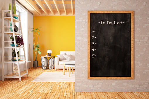 Template「To Do List on the Wall with Cozy Interior」:スマホ壁紙(5)