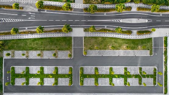 Bicycle Lane「Street and parking lots - aerial view」:スマホ壁紙(7)