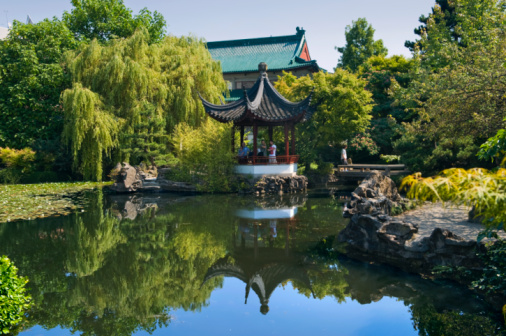 Karin「view over the lake in a classical Chinese garden,」:スマホ壁紙(17)