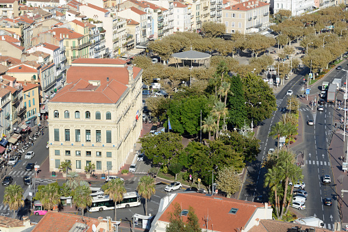 Boulevard「View over Town Hall (1874-77) & Town Square Cannes」:スマホ壁紙(16)