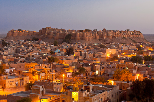 Rajasthan「View over the city and the Jaisalmer Fort」:スマホ壁紙(6)
