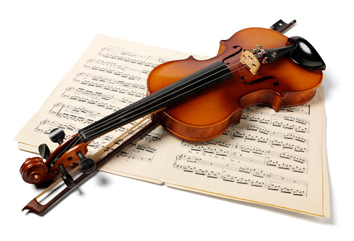 Violin「Violin and Bow with Sheet Music」:スマホ壁紙(0)