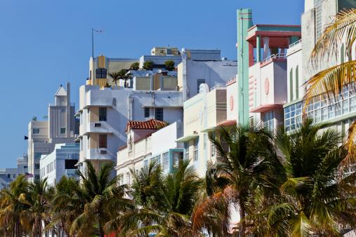 Miami Beach「(XXXL )オーシャンドライブ朝」:スマホ壁紙(15)