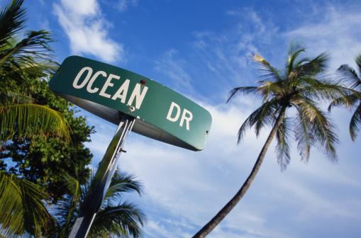 Miami Beach「Ocean Drive Street Sign」:スマホ壁紙(19)
